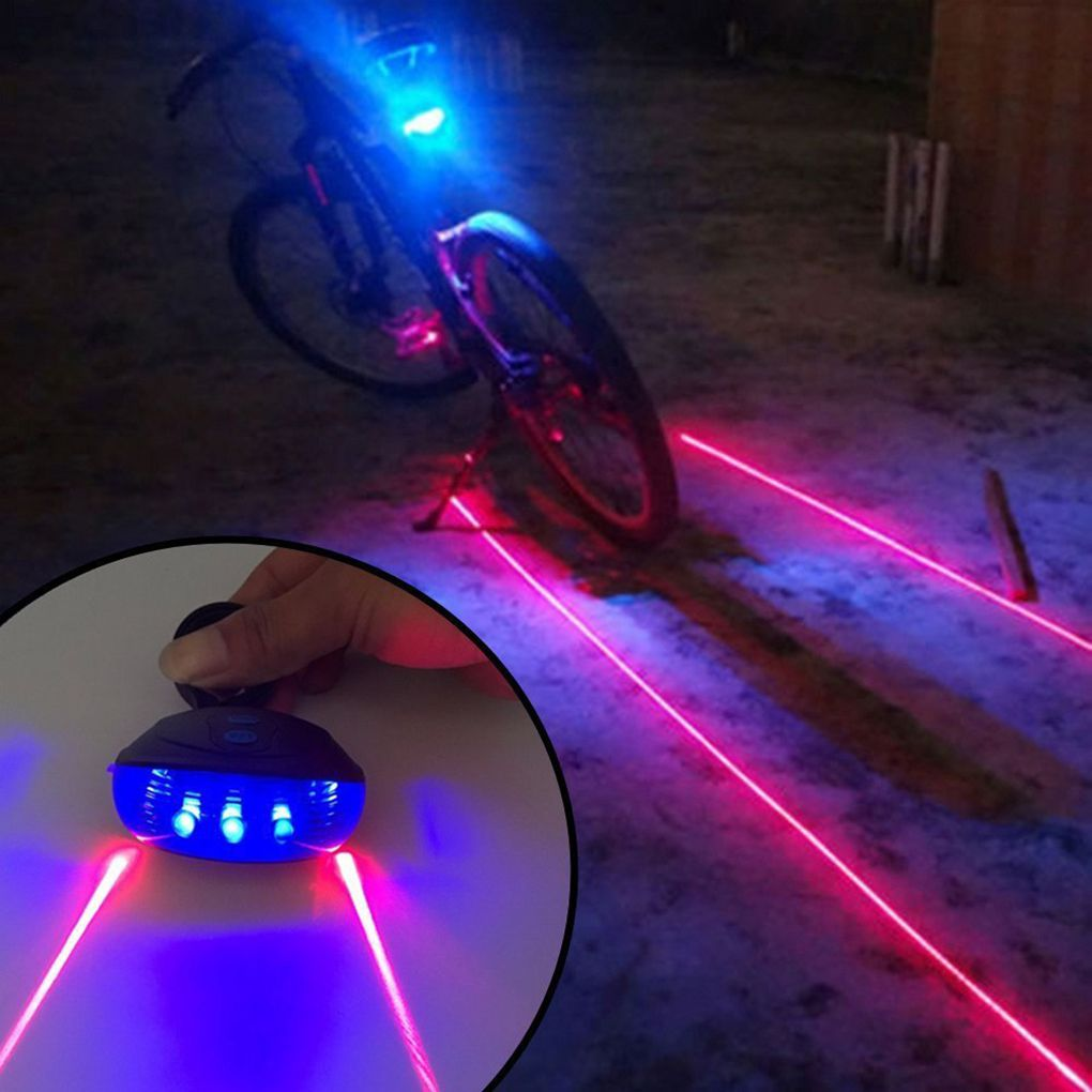 Waterproof Bicycle Cycling Lights Taillights LED Laser Safety Warning Bicycle Lights Bicycle Tail Bicycle Accessories Light