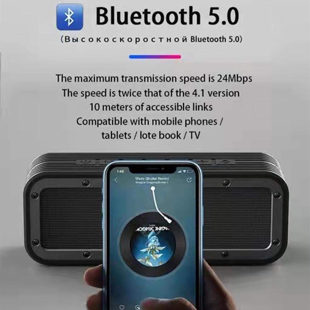Original 50W Heavy Bass Speaker Portable Wireless Bluetooth Column Speakers Outdoor Waterproof Stereo Loudspeaker Support AUX TF enlarge