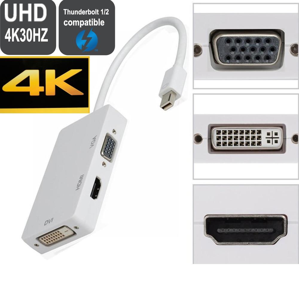 Thunderbolt/mini dp к vga, hdmi, dvi Displayport кабель адаптер конвертер для Apple MacBook Air Pro mini