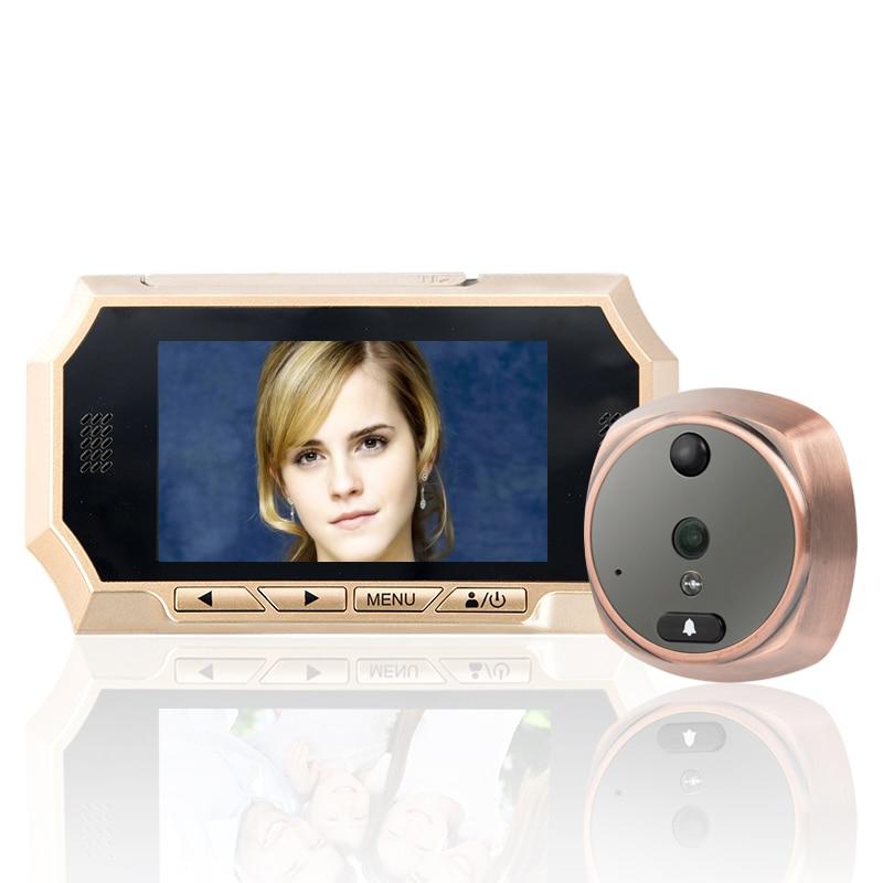 "Motion Detection Doorbell 160 Degree Wide Angle IR Night Vision 4.3"" TFT LCD Screen Digital Peephole Door Viewer Camera PIR enlarge"