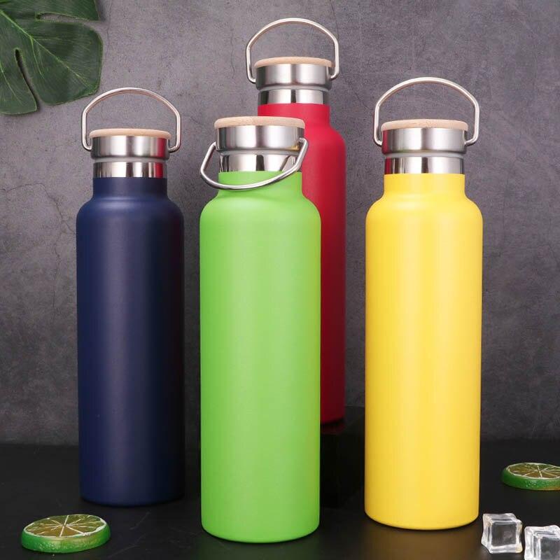 Tapa portátil de acero inoxidable para botella de agua, frascos deportivos para...