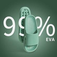 Zapatillas cómodas y gruesas para hombre y mujer, baño de casa, sandalias y Zapatillas de casa de fondo grueso, ropa de verano