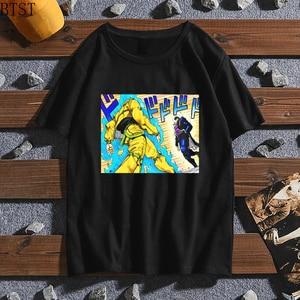 Japan Anime Jojo Bizarre Adventure T Shirt men harajuku Cartoon T-shirt casual Unisex Funny Summer Top lovers with short sleeves