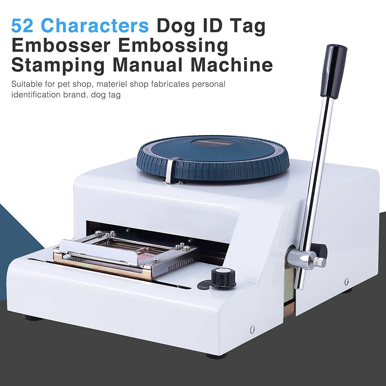 مزخرف علامة الكلب اليدوي ، منقوش بطاقة الحيوانات الأليفة ، آلة نقش الفولاذ ، 100% جديد ، 52 حرفًا