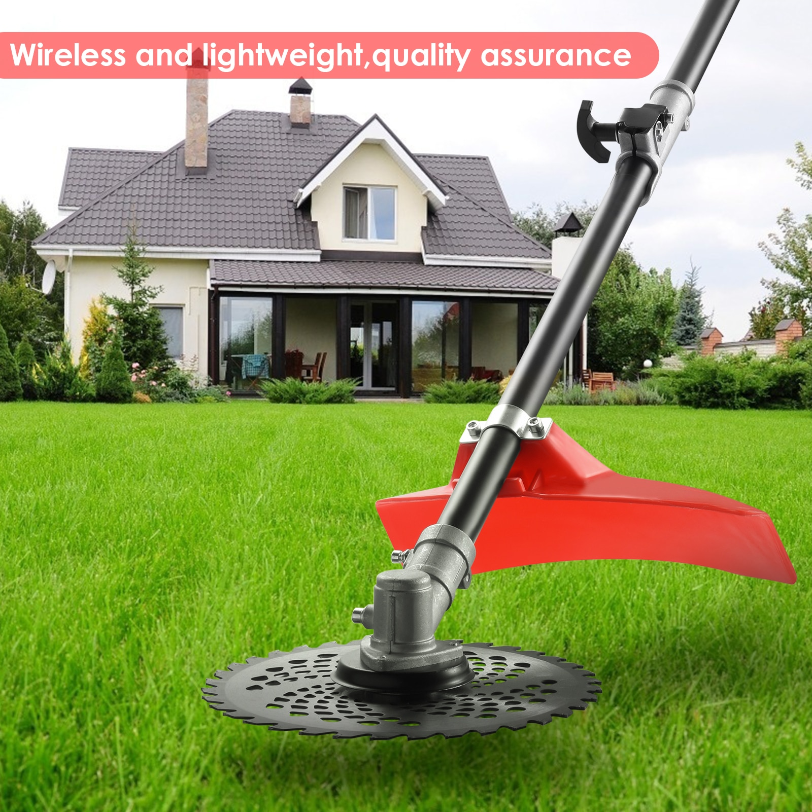 48V 2 In 1 Lawn Mower Brush Cutter Weed Straight Shaft String Trimmer With 2 Detachable Head Electric Trimmer Bush Garden Tools