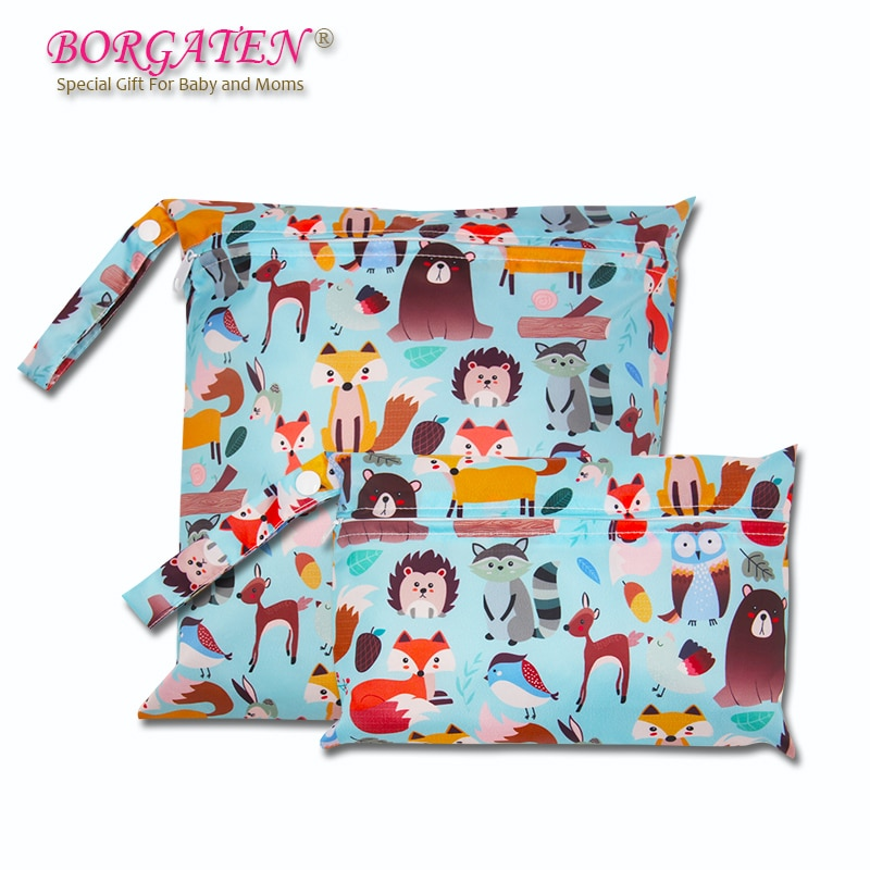 Animal Cartoon Cute Mommy Small Diaper Bag Newborn Baby Stroller Accessories Mother Nursing Nappy Changing Wetbag Waterproof