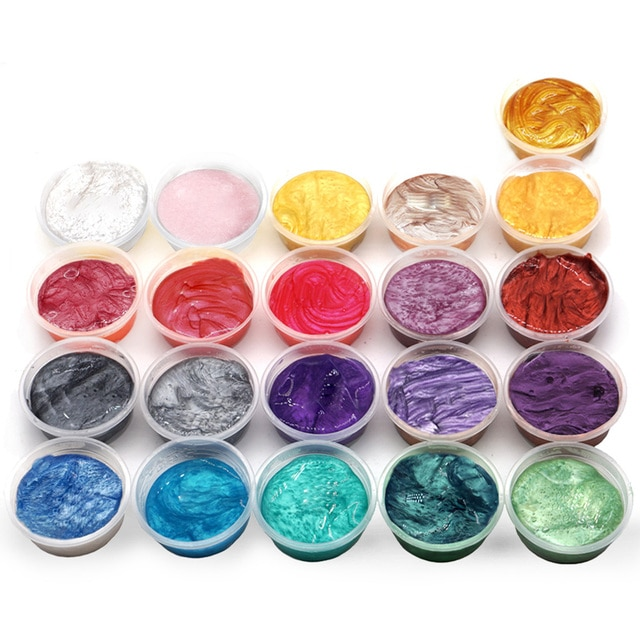21 Colors Pearl Pigment Powder Mica Pearlescent Colorants Resin Dye for Jewelry Making Art Tool Art Supplies 2