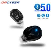 Мини-наушники-вкладыши с поддержкой Bluetooth 5,0, Беспроводная Hi-Fi гарнитура с микрофоном, спортивные наушники со стереозвуком для всех телефоно...