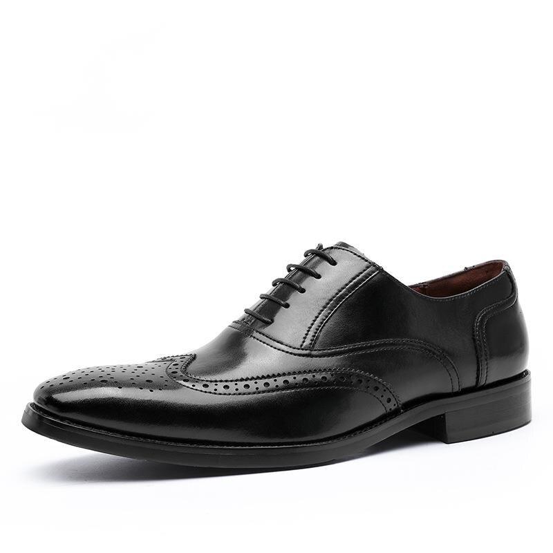 جديد حقيقي جلد البقر أحذية رجالي الأعمال كبيرة رسمية أكسفورد فستان رجالي الزفاف مكتب أحذية للرجال zapatos الفقرة hombre