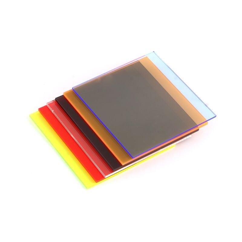 Placa de acrílico Folha de Acrílico Colorido 8*8 centímetros DIY Acessórios Do Brinquedo Modelo de Tomada de
