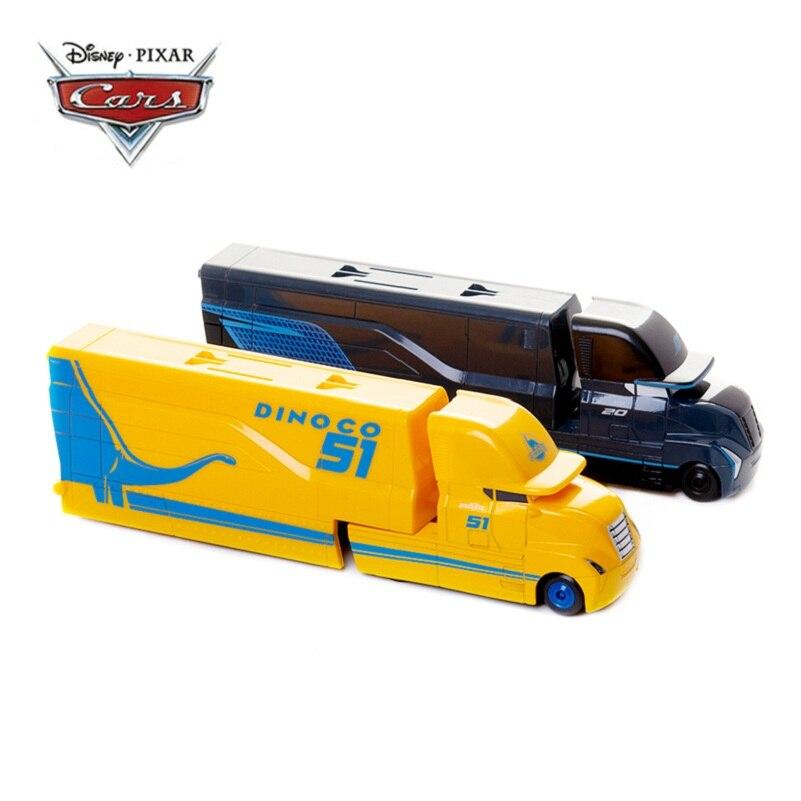 Disney Pixar Cars 2 3 juguetes Lightning McQueen Jackson Storm Cruz Mack Uncle Truck 1:55 modelo de coche de juguete fundido regalo de cumpleaños para niños