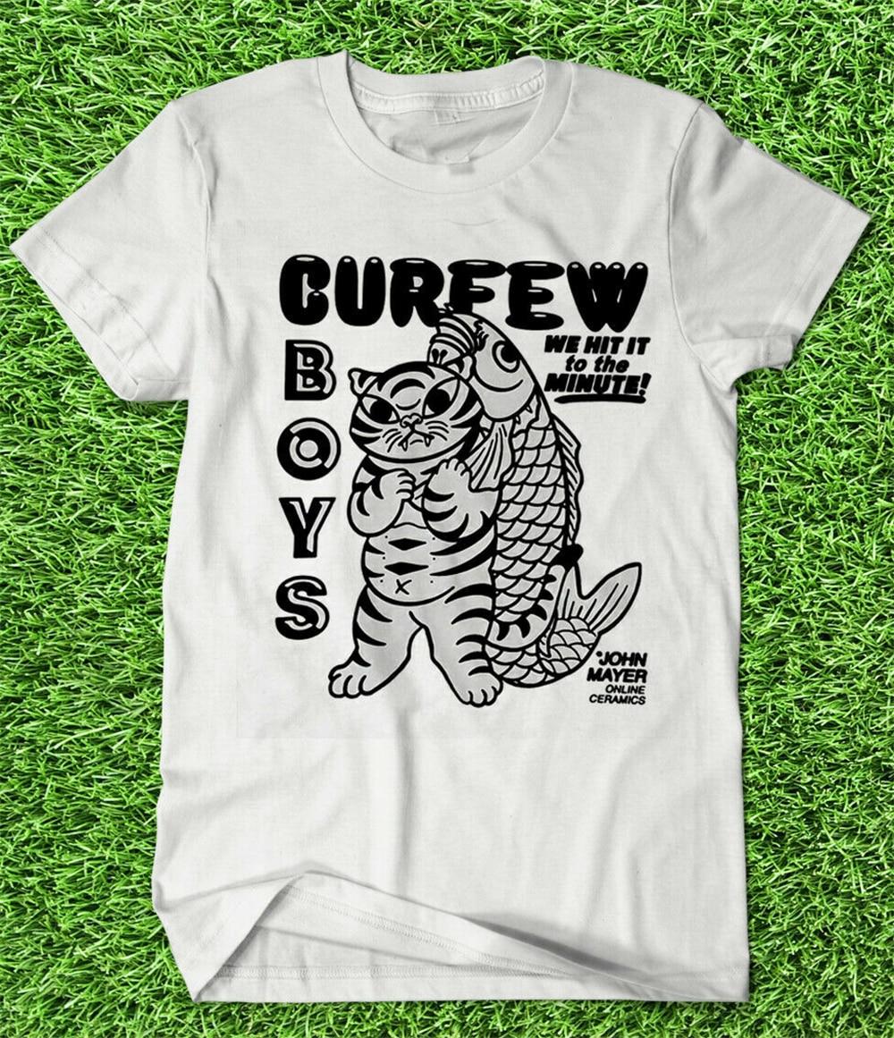 Camiseta de la gira de la cerámica en línea de John Mayer 2019-Niños del toque de queda. Newt Harajuku Hip Hop Tee camiseta