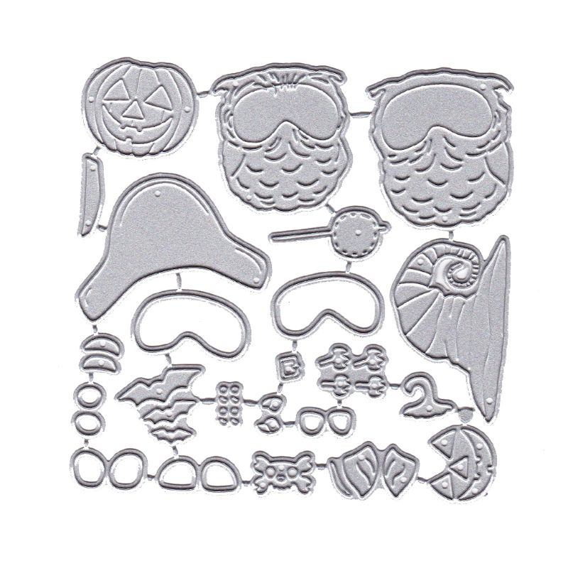 Happy Halloween Owl Metal Cutting Dies Stencil DIY Scrapbooking Album Stamp 95AA