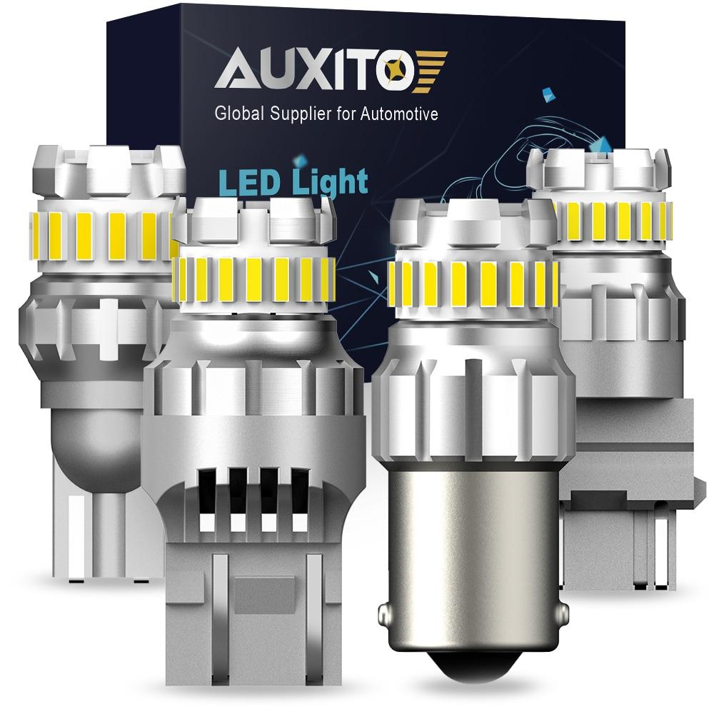 AUXITO W21W BA15S P21W LED Canbus P21/5W BAY15D Led T20 7443 1156 coche LED luz de retroceso de marcha atrás para Peugeot 206, 307, 308, 407, 207