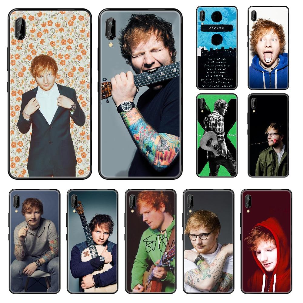 Ed Sheeran Pop teléfono funda para Huawei Honor amigo 5 5 5 6 6 7 8 9 10 20 C X Lite negro tendencia de 3D funda tpu parachoques bastante