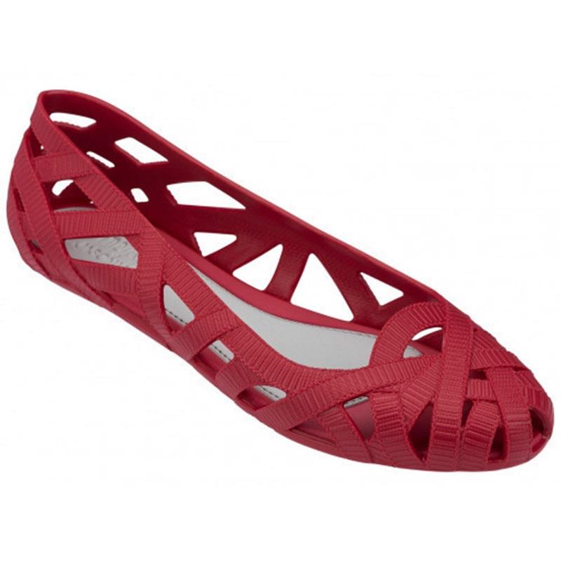 ¡Verano 2020! Zapatos huecos para mujer, zapatos de PVC con agujero poco profundo, sandalias de gelatina para madre, zapatos de gelatina planos Melissa, sandalias de playa SHW059