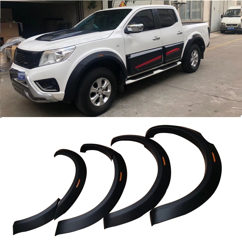 EXTRA EXTERIOR AUTO PARTS FENDER FLARE RUNNING BOARD SIDE BAR FIT FOR NISSAN NAVARA NP300 4DOOR PICKUP CAR ACCESSORIES 2015+