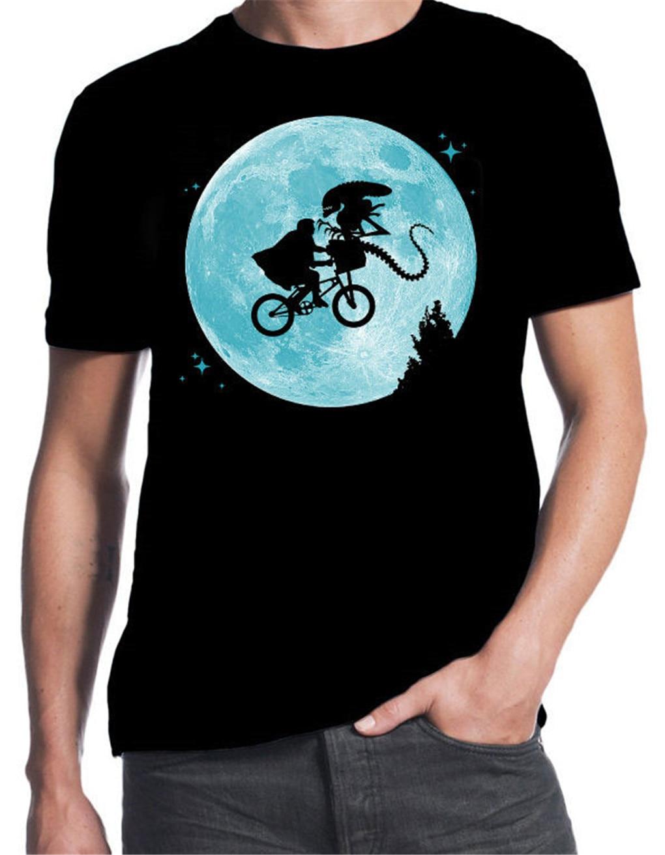 ET Alien Fliegen BMX Mond Logo Lustige Sci-Fi Film 80er Party Kostüm BLK T-Shirt T Shirt Outwear Kleidung