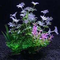 1pc aquarium artificial aquatic plants plastic simulation water grass decoration brightly colored fish tank landscape ornament
