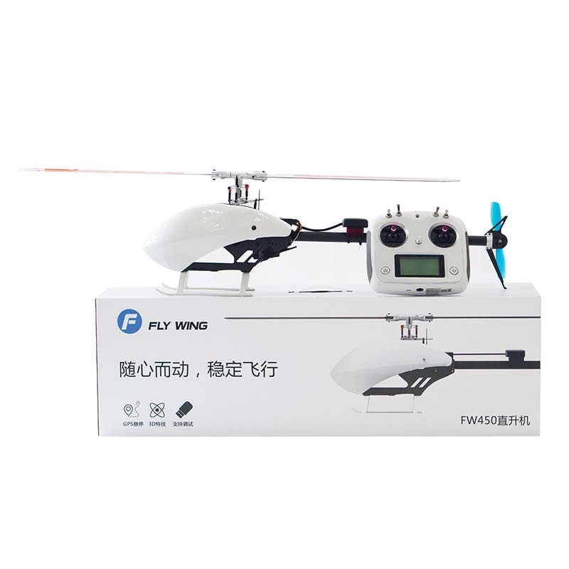 3D RTF 6CH RC helicóptero inteligente FW450 2,4 GHz casi RTF montado RC helicóptero