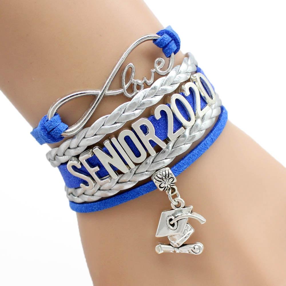 Infinity Love Senior 2018 2019 2020 2021 Graduates Graduation Gift Jewelry Bracelets for Women
