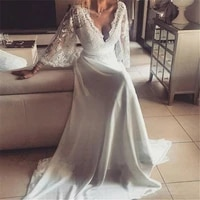 boho wedding dresses 2019 robe de mariee vintage lace bridal wedding dress custom made beach bridal party gowns vestido de novia