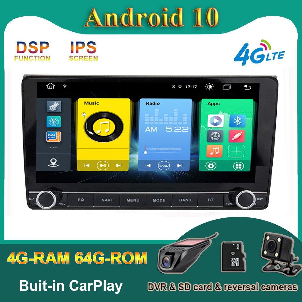 Carplay DSP Android 10 AUTO Radio Stereo-player GPS Multimedia für Audi A4 8P 2002-2008 S3 2006-2012 RS3 Sportback 2011 BT WIFI