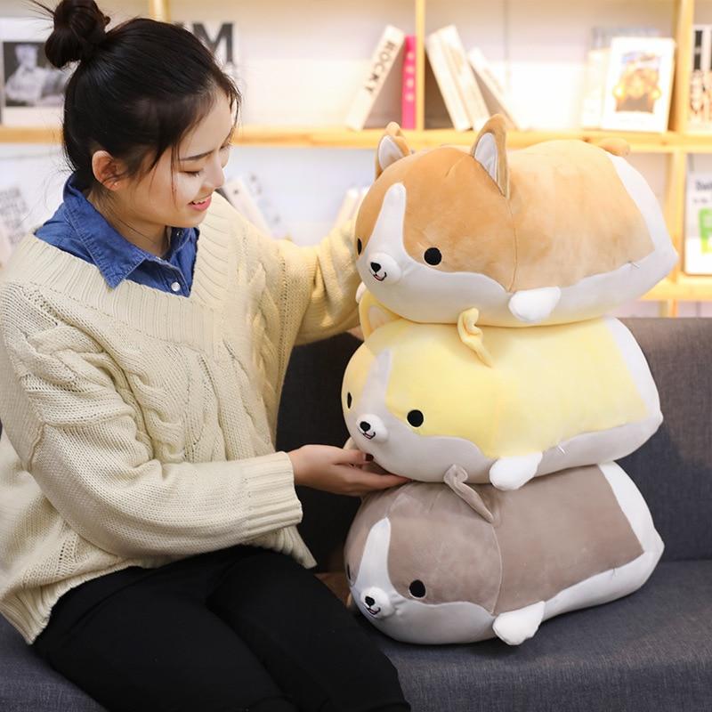 2021 New Cute Corgi Dog Plush Toy Stuffed Soft Animal Cartoon Pillow Lovely Christmas Gift For Kids Kawaii Valentine Present недорого