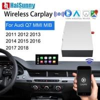 wifi wireless carplay for audi q7 mmi 3g mib 2011 2017 2018 support auto multimedia gps navi reverse camera mirror link retrofit