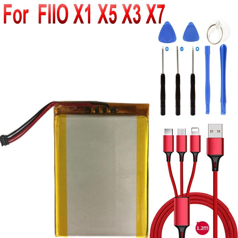 Batería de 3.7V4000mAh para FIIO X5 X3 X7 I II Player nuevo li-po polímero acumulador recargable Paquete de reemplazo
