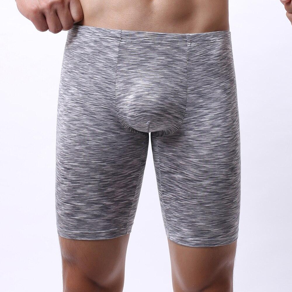 Sexy Men Stretch Long Leg Boxer Briefs Pouch Underwear Shorts Trunks Underpants Breathable Shorts Tr