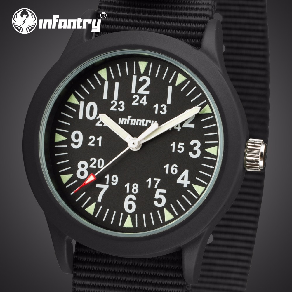 INFANTRY Mens Watches Top Brand Luxury Military Watch Men Army Nato Strap Watch for Men Field Thin L