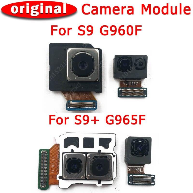 Cámara frontal y trasera Original para Samsung Galaxy S9 Plus G960 G965 Módulo de cámara frontal principal repuestos flexibles