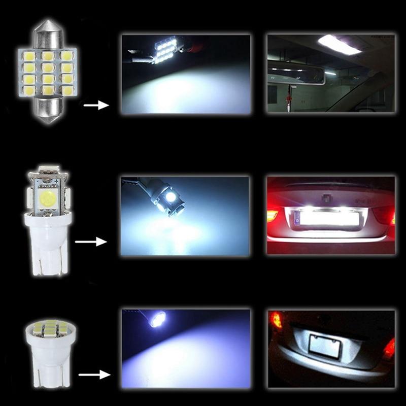 13 шт./лот, Автомобильные светодиодные клиновидные парковочные лампы, интерьерные лампы для чтения, приборная панель, автомобильные аксессу...