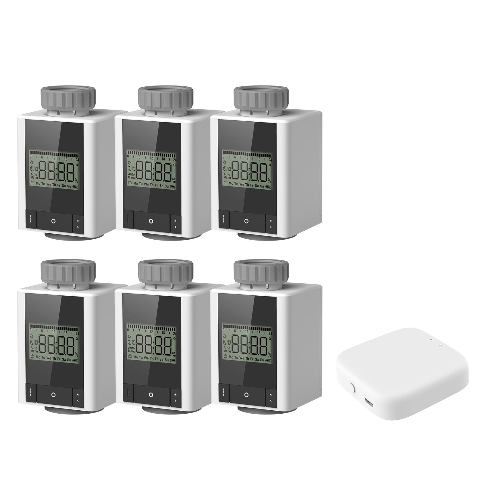 ZigBee-صمام مبرد ثرموستاتي ، مبرمج أسبوعي ، تدفئة ذكية ، ترموستات ، تحكم صوتي عن طريق تطبيق Tuya Gateway ، 6 قطعة