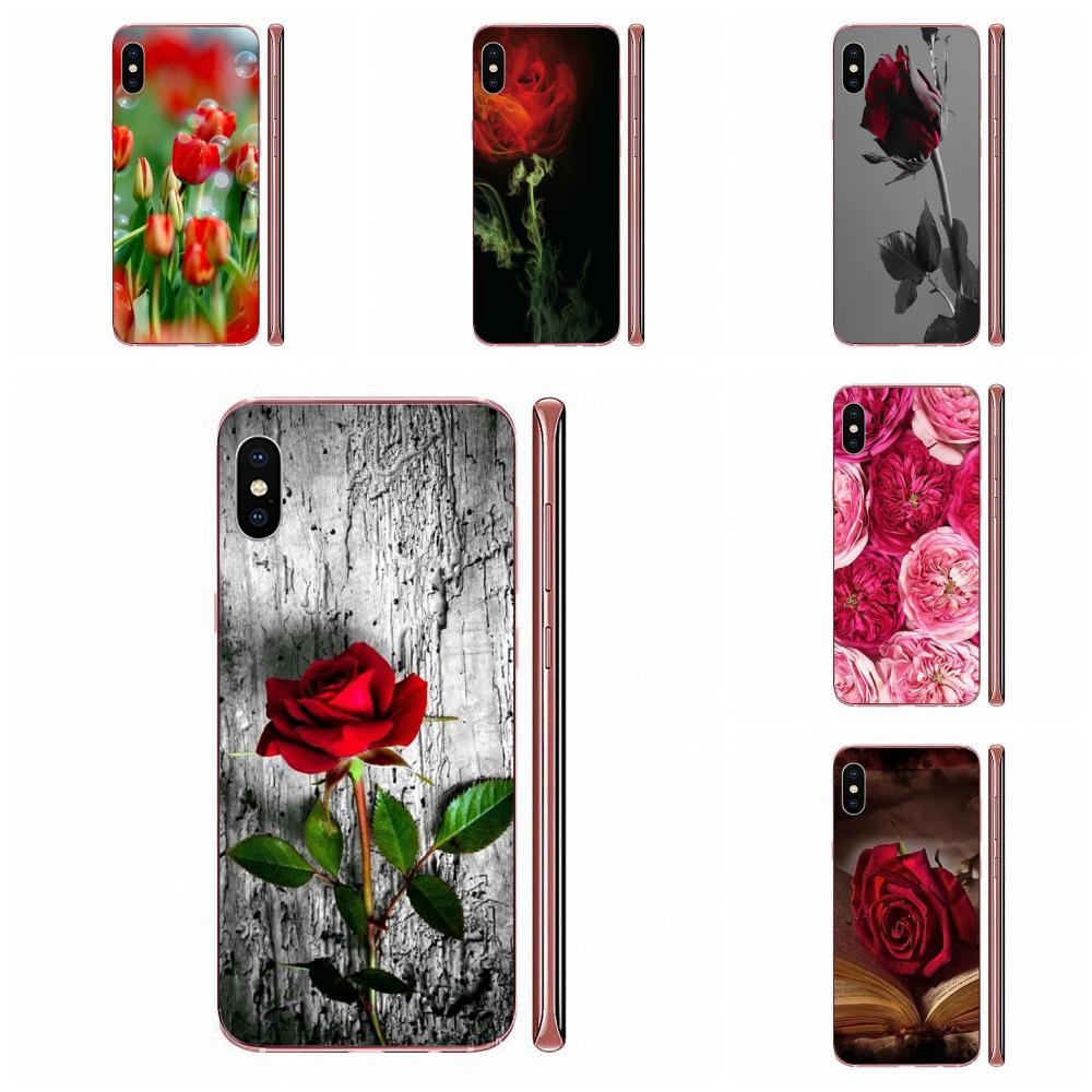 La piel rojos tulipanes Flor de espuma de burbujas para Samsung Galaxy J1 J3 J4 J5 J6 J7 A10 A20 A20E A3 A40 A5 A50 A7 2016 de 2017 a 2018