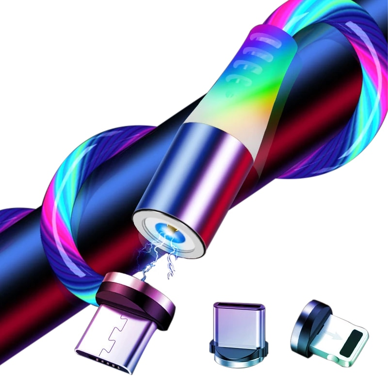 IPUMYNO-Cable de carga magnética para teléfono móvil, Cable de carga magnético para...