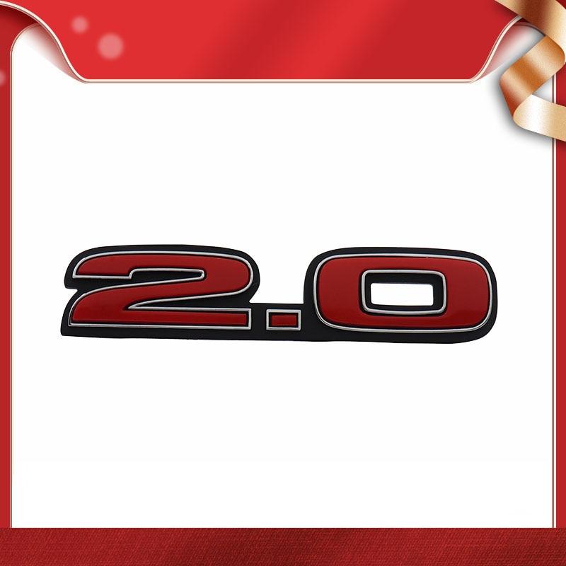3d 2.0 2.0t para carro fender capa tronco placa de identificação decalque emblema adesivo