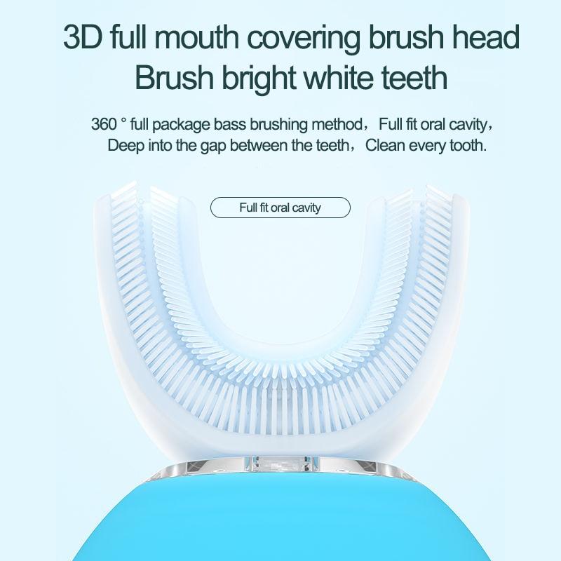 Lazy man U type electric toothbrush, waterproof electric toothbrush, teeth cleanser, full automatic U type tooth cleanser enlarge