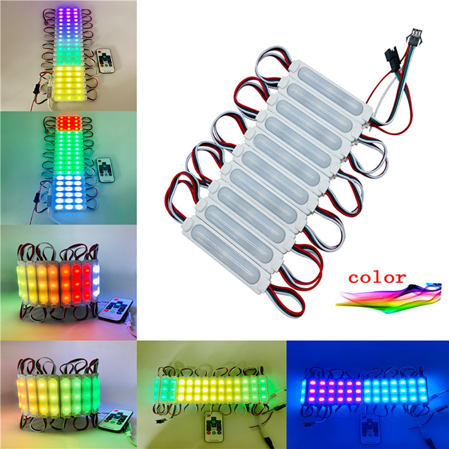 500PCS/Lot 6703IC 12V Pixel Symphony LED Module 5050 RGB 3LED Dream Color LED Strip IP65 Waterproof For Advertising Box Light enlarge
