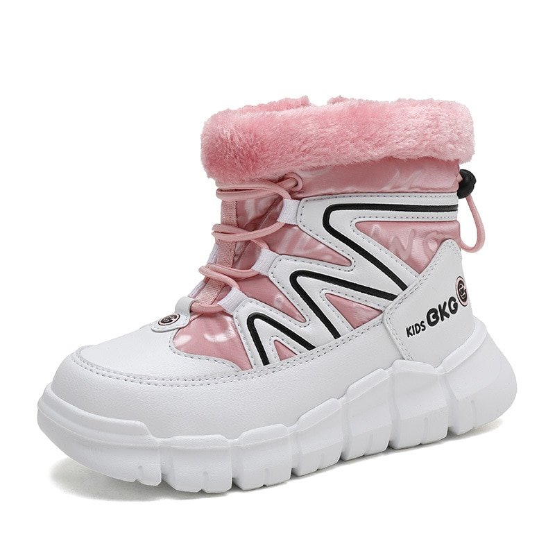 ULKNN 2021 الشتاء حذاء للأطفال كبيرة المحشوة بالقطن الفتيات footwear زائد المخملية أحذية سميكة عدم الانزلاق مقاوم للماء الفتيان الثلوج الأحذية