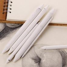 6pcs/set White Durable Blending Smudge Stump Sketch 6 Sizes Art Drawing Tool Pastel Gift