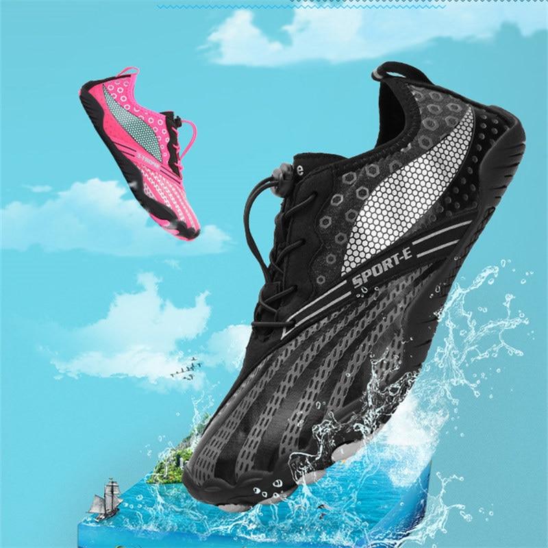 Breathable Aqua Shoes Men Quick Dry Men Beach Shoes Women Barefoot Upstream Shoes Hiking Sport Shoe River Sea Water Sneakers