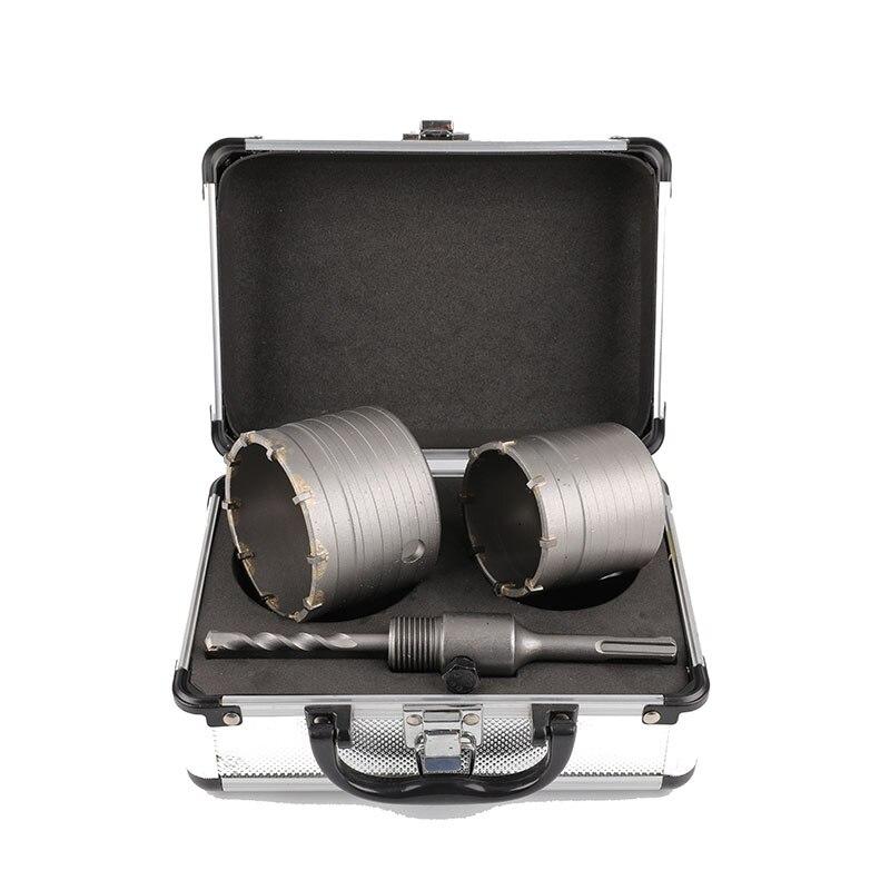 3PCS/Set Alloy Brick Wall Drilsl Bit Range Hood Air Conditioner Punch Drill Set Hollow Electric Hammer Drill Aluminum Box Set enlarge