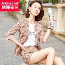 Plaid Shorts Suit Women's Spring/Summer 2021 New Korean Style Fashionable Temperament Lightly Mature