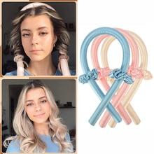 2021  Heatless Headband Silk Ribbon Curler Set Wave Formers Hair Curlers Soft Make Hair Hair Styling