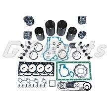 Kit de révision moteur avec manchon de revêtement pour Bobcat 425 428 V1505 boîtier dexcavatrice 1825B