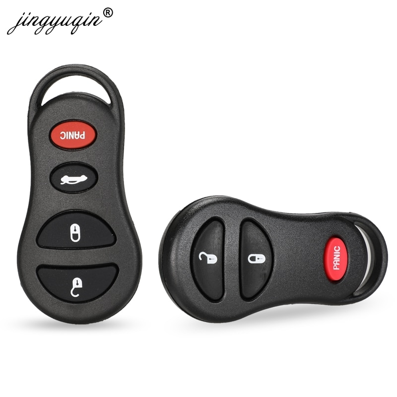 jingyuqin 10pcs 3/4 Buttons Keyless Remote Key Shell Case Fob For Chrysler Voyager Cruiser For Dodge Ram Dakota Jeep Cherokee