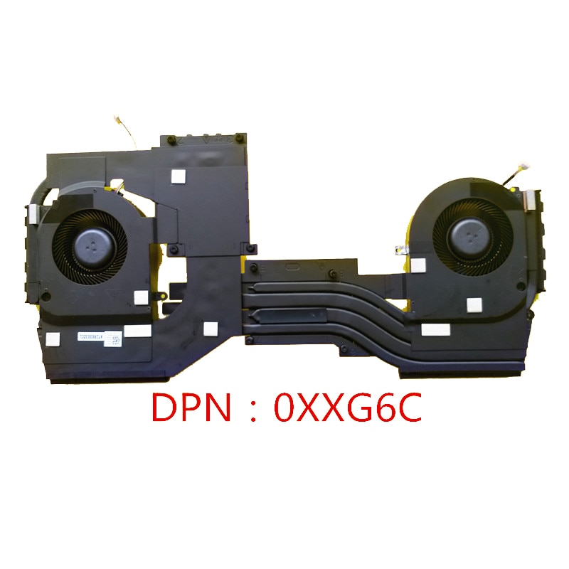 Новый оригинальный вентилятор охлаждения ЦП с радиатором для DELL ALIENWARE AREA-51M R2 RQ2 PN:0XXG6C
