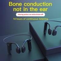 bone conduction headphones bluetooth compatible wireless waterproof comfortable wear open ear hook not in ear sports earphones